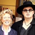 Marc VEYRAT, grand chef étoilé, et Pierrette le 21 septembre 2008 à MOUGINS