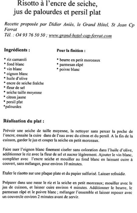 recette grand chef toil recette risotto l encre. Black Bedroom Furniture Sets. Home Design Ideas
