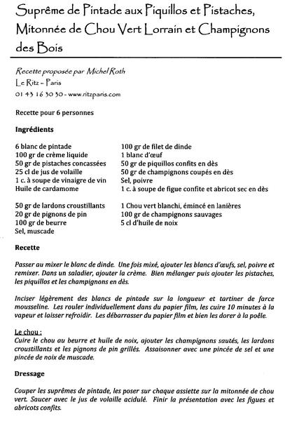 recettes, recette cuisine du ritz,www.cuisine-francaise.org