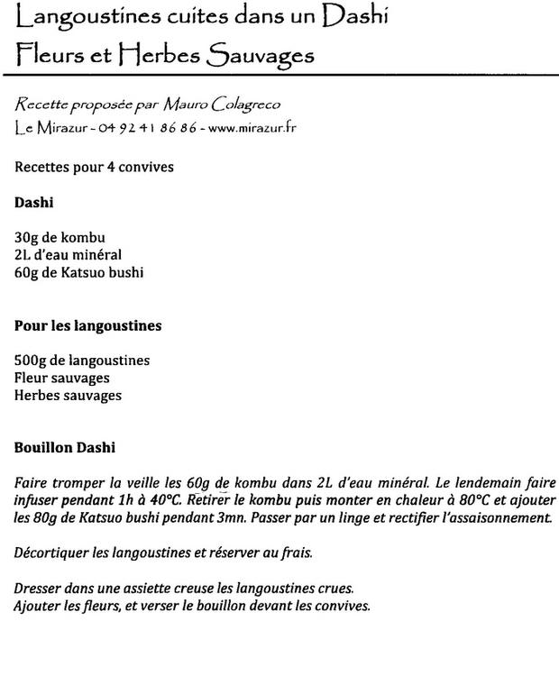 recette grand chef toil recette langoustine fleur et. Black Bedroom Furniture Sets. Home Design Ideas