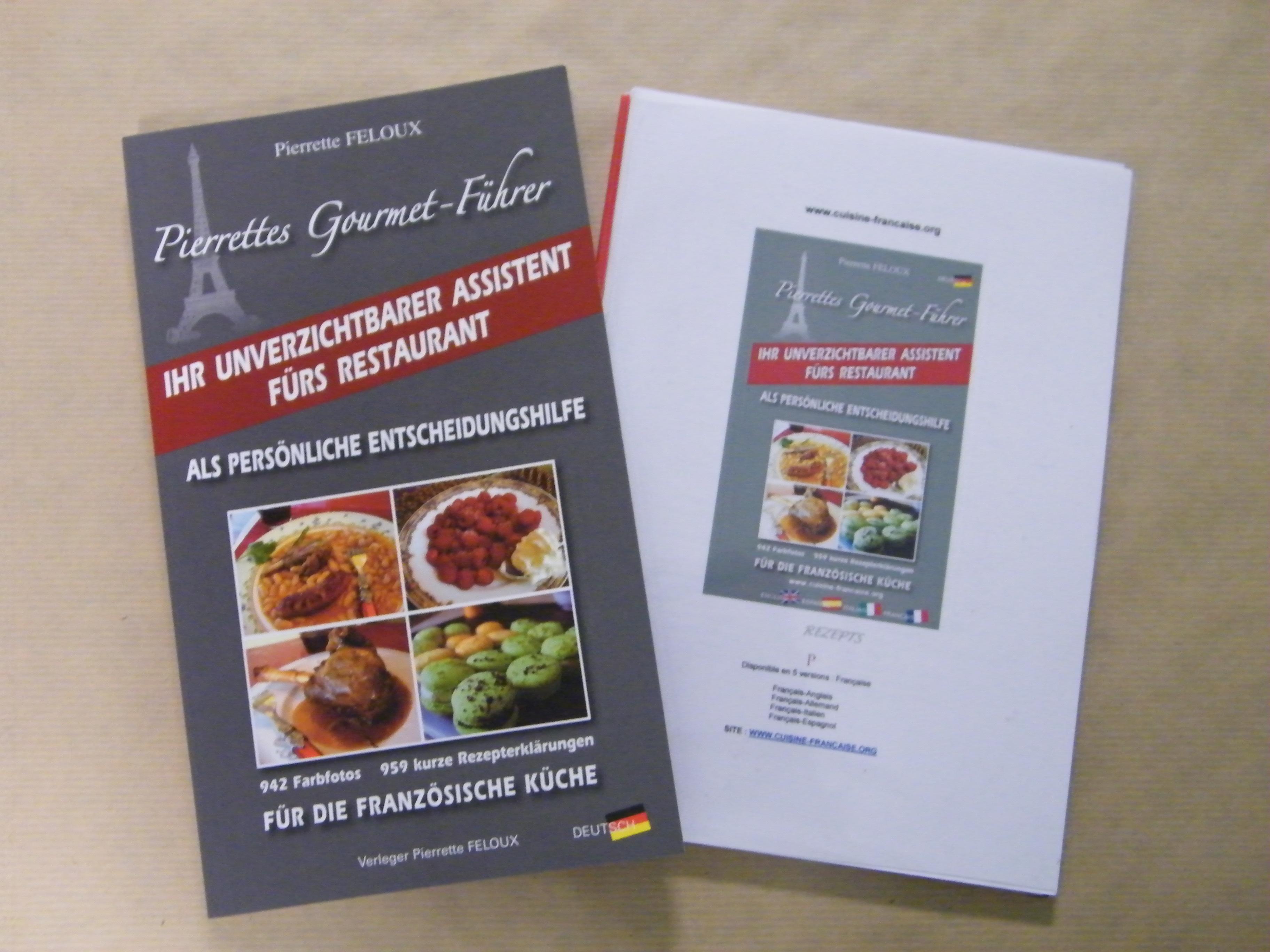Menu en allemand - Dictionnaire cuisine francais ...
