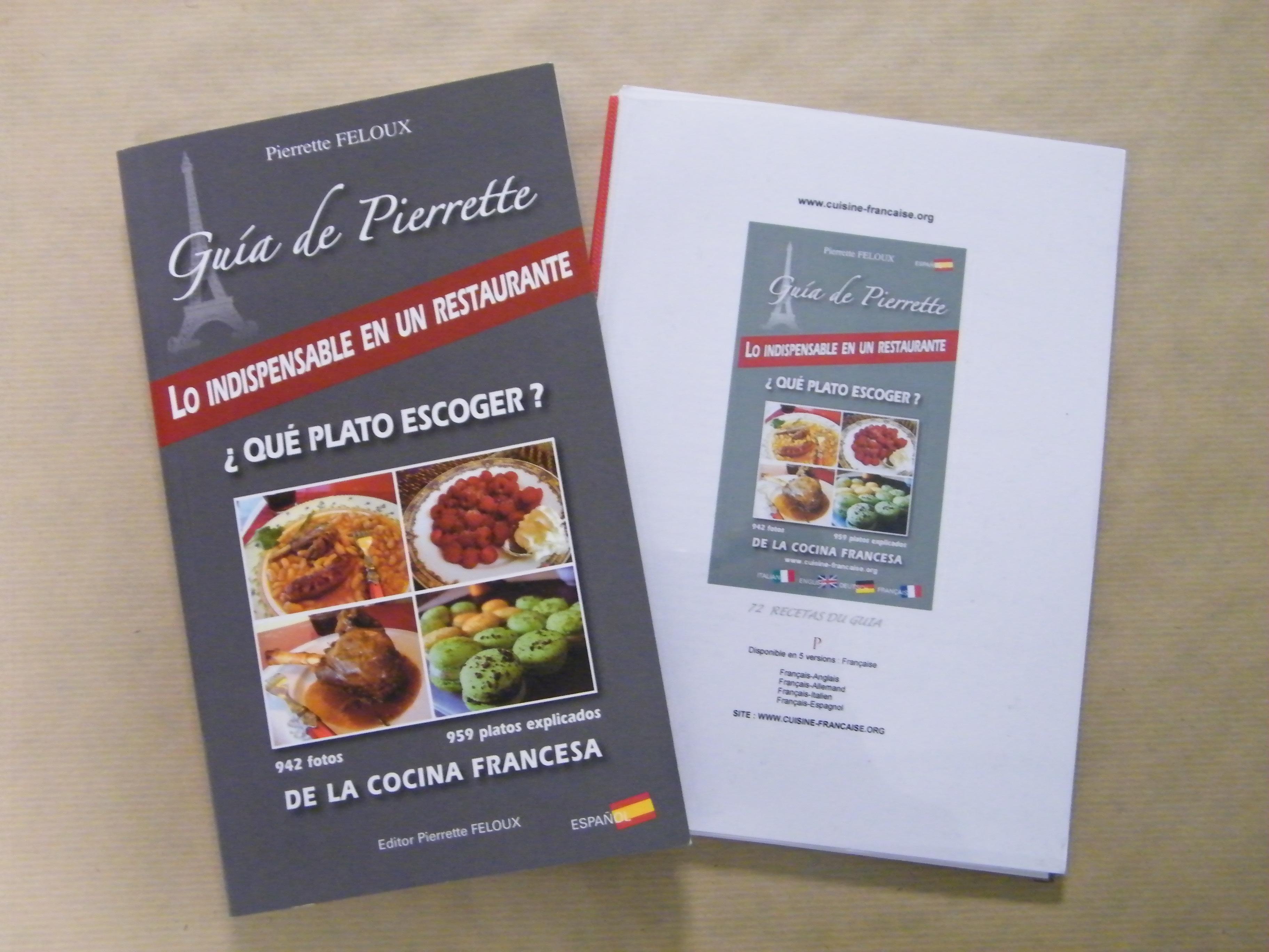 Livre de cuisine en espagnol - Livre de cuisine francaise en anglais ...
